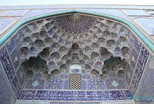 """Isfahan Beauties / Isfahan, or """"half of world"""" is the city of colossal squares, mosques, bridges and bazaars, Madrasa (religious schools) and caravanserais as well as awe-inspiring turquoise domes. Isfahan, as Iranians call it, Nesf-e Jahan (half of the world), is the masterpiece of Iranian art and architecture and it is one of the most wonderful cities in the Islamic world."""