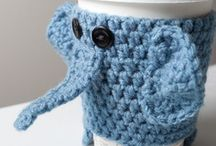 crochet knit elephant / слоны