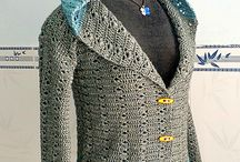Adult sweaters, clothing - Crochet