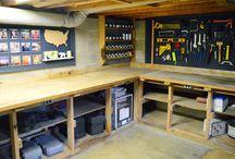 Atelier dans le garage