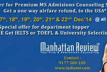 GRE Events(GRE Coaching In Hyderabad) / Manhattan Review is offering a high quality study program to make good grades in an attempt to score maximum marks in GRE, GMAT, SAT, IELTS, TOEFL
