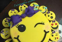 Emoji cakes, cupcakes & pops