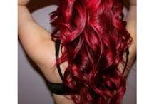 Rasberry red hair