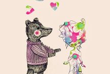 illustrated bears