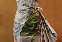 šaty z papíru