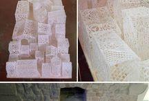 sculpture textile / Idées de créations, inspiration et coup de coeur pour des sculptures faites avec du tissus et des fibres textiles.