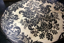 Stenciled Furniture / Painted and stenciled furniture.