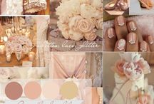 Blush/ Peach/Grey/Neutral/Dusty blue wedding