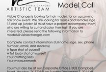 Model Call / Models needed for classes, hair shows and fashion shows.