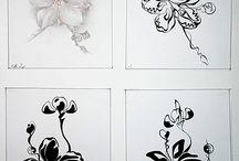 Cách điệu hoa lá