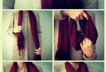 красиво носим шарфики платочки