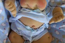 muñecos bebes en tela