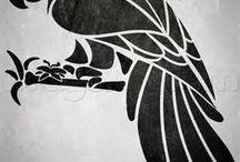 stencil aves