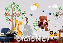 Bible Nursery Decor, Religious Nursery Art / Bible Themed Wall Decals and Religious Nursery Art to decorate