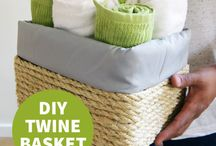 diy twine basket