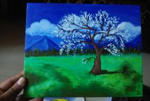Art & paintings / My art my Paintings done on canvas board with acrylic colors. http://olx.in/i2/all-results/user/1Q63N/