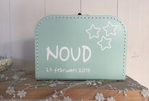 Kinderkoffertjes met naam / Kinderkoffertjes met naam gemaakt door www.littleduck.nl