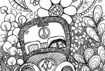 Väritä ja doodlaa