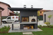 Miari Caminetti / Barbecue su misura con forno a legna