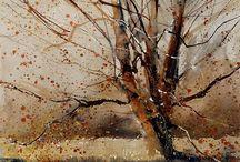 akvarell tajkép
