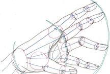 dłonie, rysunek