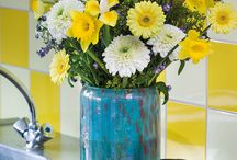 Summer Time / Small colourful gerbera bouquets with different color vases for the perfect decorations and inspiration for your house