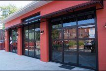 ADA Compliant Glass Garage Door Pass Door / Bon Jovi Soul Kitchen Red Bank, NJ