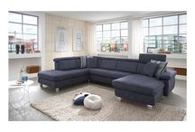 Modern Fabric Dark Blue Sectional