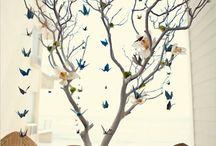 Projets origami arbre à oiseau