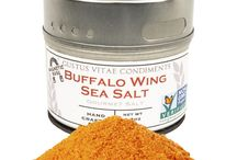 Buffalo Wing Sea Salt Inspiration / Taking the tang of buffalo wing flavor and the saltiness of the Pacific Ocean to bring zest to all of your dishes throughout the year.