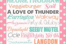 Fonts / by Belinda Sutton
