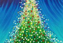Рождественский Холст