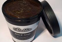 Black Soap / Aladdin Black Soap met eucalyptus biologisch uit Marokko 200 gr. voor 12,50 euro