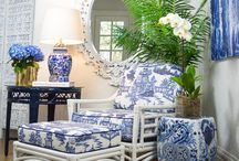 Blue & White / You can never have to much blue and white. We're pretty obsessed.