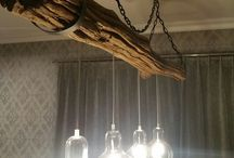 My work / woodenlamp