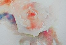Roses in loose watercolor