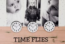 Scrapbook Ideas - Kid Specific Theme on How Time Flies / These layouts remind me of how quickly our kids grow and inspire me to record those moments that slip by so quickly.