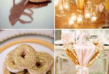 champaign, soft pink and rose gold wedding
