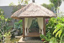 Balinese pavilions