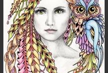 Zentangles fairy