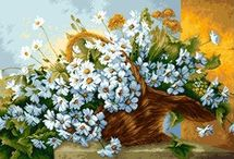 """вышивка""""цветы в карзине"""""""