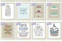 tarjetas y vinilos