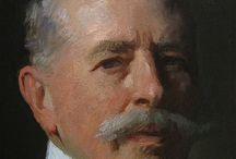 Portret geschilderd