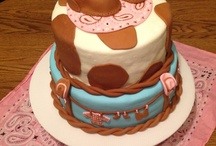 Cowgirl Baby Shower Cake / Cowgirl Baby Shower Cake Ideas for your cowgirl theme baby shower party. / by Modern Baby Shower Ideas