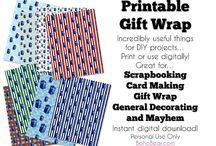 Printables, Papercrafts, Scrapbooking, Downloads, Digital DIY