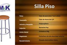 Sillas Piso Bar c/s Respaldo / Sillas Piso Bar con o sin respaldo
