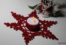 crochet tea light