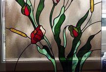 színes ólomüveg ablak betét