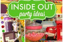 Inside Out Party Ideas / Referências de pesquisa para DivertidaMente - Inside Out