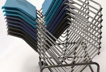 Stacked Series / Strong, slim and durable, the Stack'ed Series gives practicality a stylish new name. These chairs sport the easy-care back and seat which come in your choice of five available colors. Add the custom dolly for convenient stacking and storage.